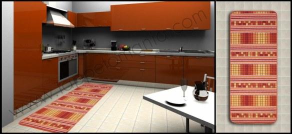tappeti per la tua cucina arancione antiscivolo